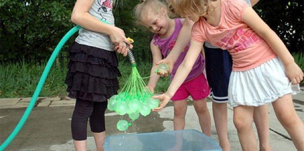 Water Balloon Maker - http://www.weddingdesigntips.com/other-ideas/water-balloon-maker.html