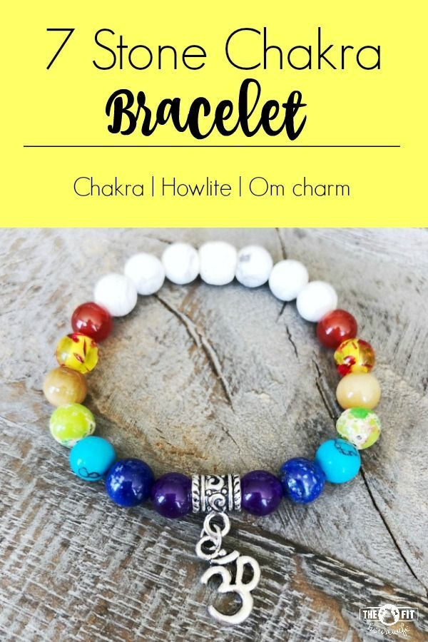 7 Stone Chakra and Howlite Essential Oil Diffuser Bracelet with Om charm.  CLICK HERE to order or see more of my designs.