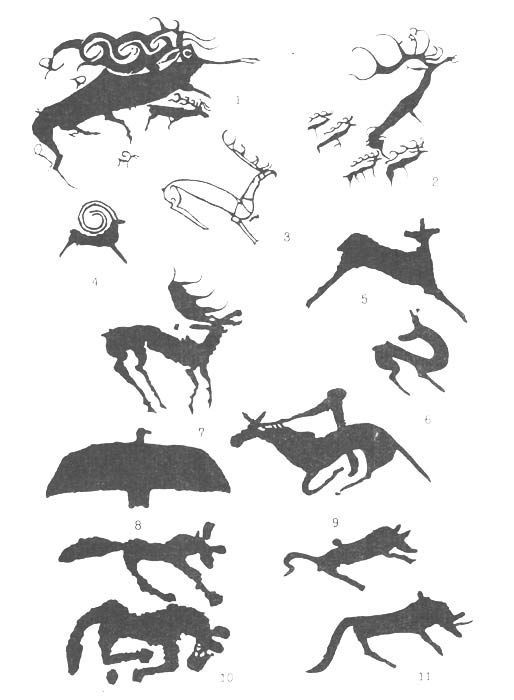 Russian and Mongolian High Altai -  petroglyphs from the Scythian Age from 800 to 700 BC