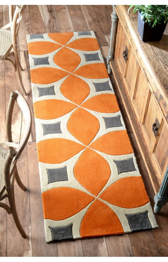 101 best orange area rugs images on pinterest | contemporary rugs