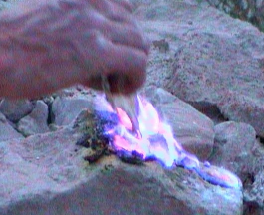 Sodom and Gomorrah - the brimstone will burn if you put a match to it.