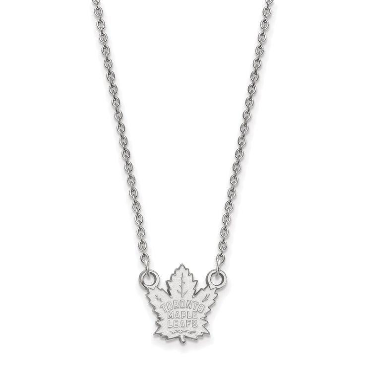 10 Karat gold NHL LogoArt Toronto Maple Leafs Small Pendant with Necklace