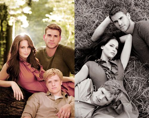 Gale, Katniss, and Peeta
