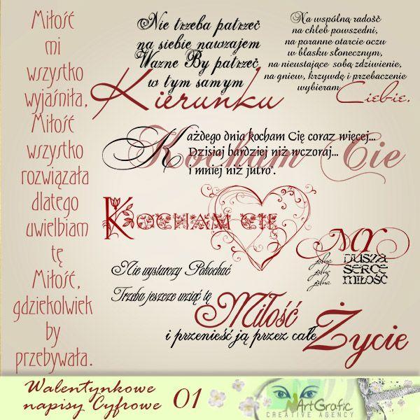 Napisy Walentynkowe PNG 01 - cytaty ,digi stemple