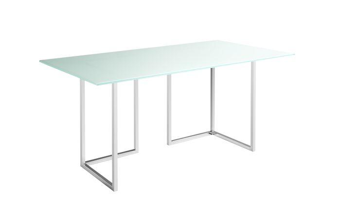Lagon bordsskiva, finns i flera olika färger och storlekar. Här tillsammans med Nic bordsben/bock.