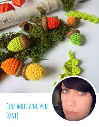 DIY-Anleitung: Gehäkelte Eicheln und Blätter   Snaply Magazin