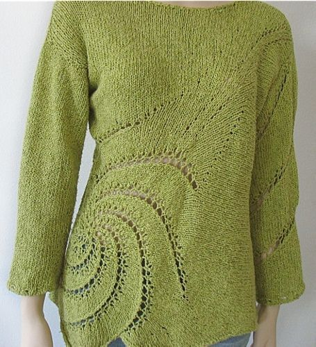 Ravelry: Swirl Pullover pattern by Norah Gaughan
