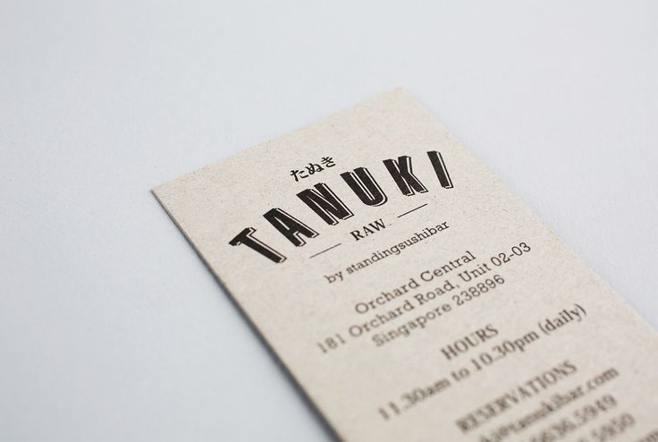 Tanuki RAW—Restaurant Branding & Interior on Behance