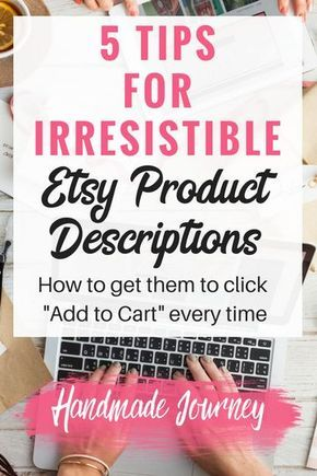 Etsy product descriptions are one of the most overlooked parts of a listing. Great product descriptions will help skyrocket your handmade sales.