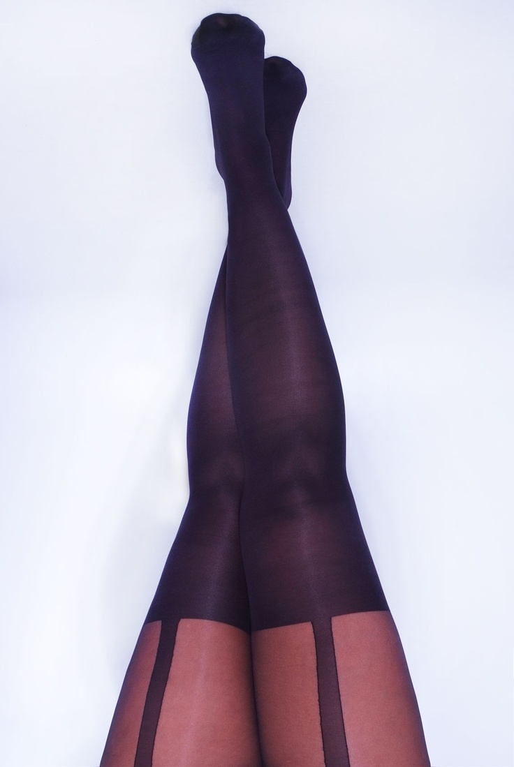 Yours Clothing Womens Plus Size The Racy Ones Black Suspender Plus Size Tights