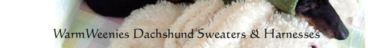 Dachshund Sweaters Harnesses & Snoods to Fit & Stay by WarmWeenies