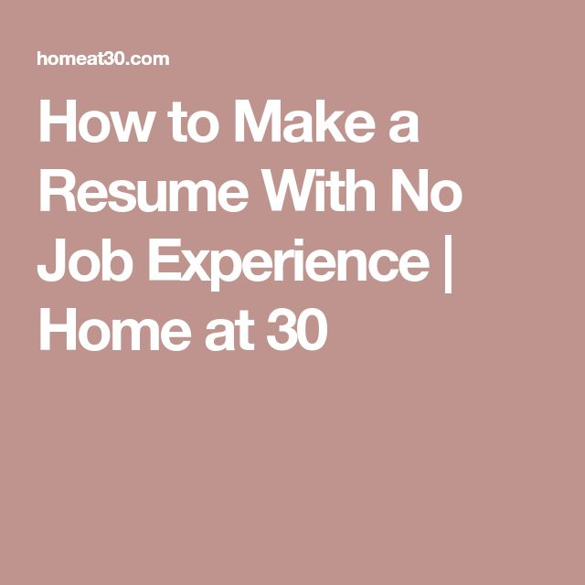 25+ unique Make a resume ideas on Pinterest Resume, How to make - resume with no job experience
