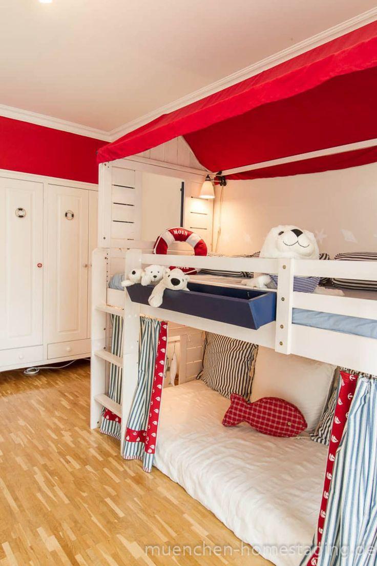 Spectacular Maritimes Kinderzimmer skandinavische Kinderzimmer von M nchner HOME STAGING Agentur