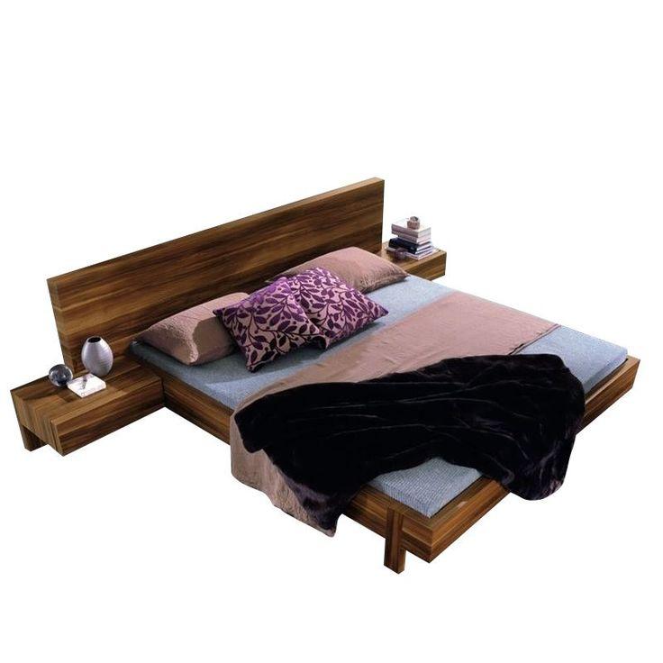 Rossetto Gap Platform Bed in Walnut