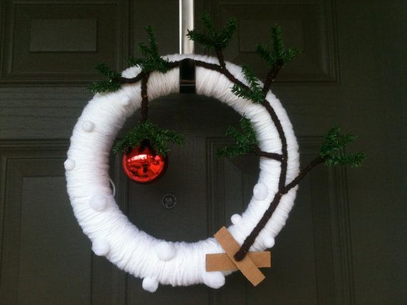 charlie brown christmas tree wreath by lauradarby on etsy 4000 - Brown Christmas Tree
