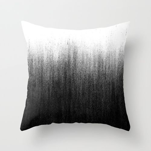 Charcoal Ombre Throw Pillow