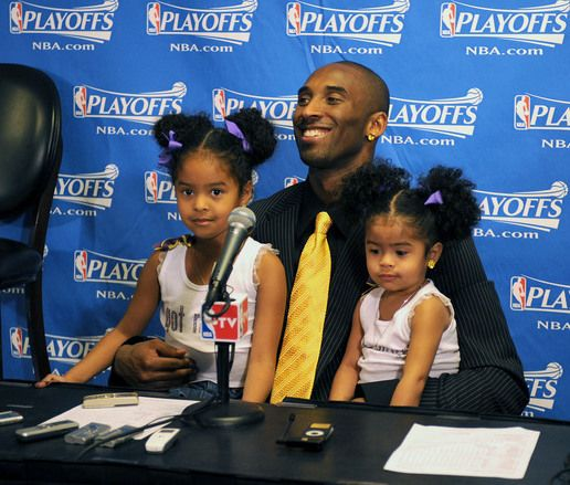 kobe bryant children | KOBE BRYANT WITH WIFE AND KIDS,A DAY AFTER WINNING MVP AWARD ...