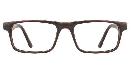 Vincent Chase Vagabond VC 2348/1 Black Red Line Black C6 Eyeglasses