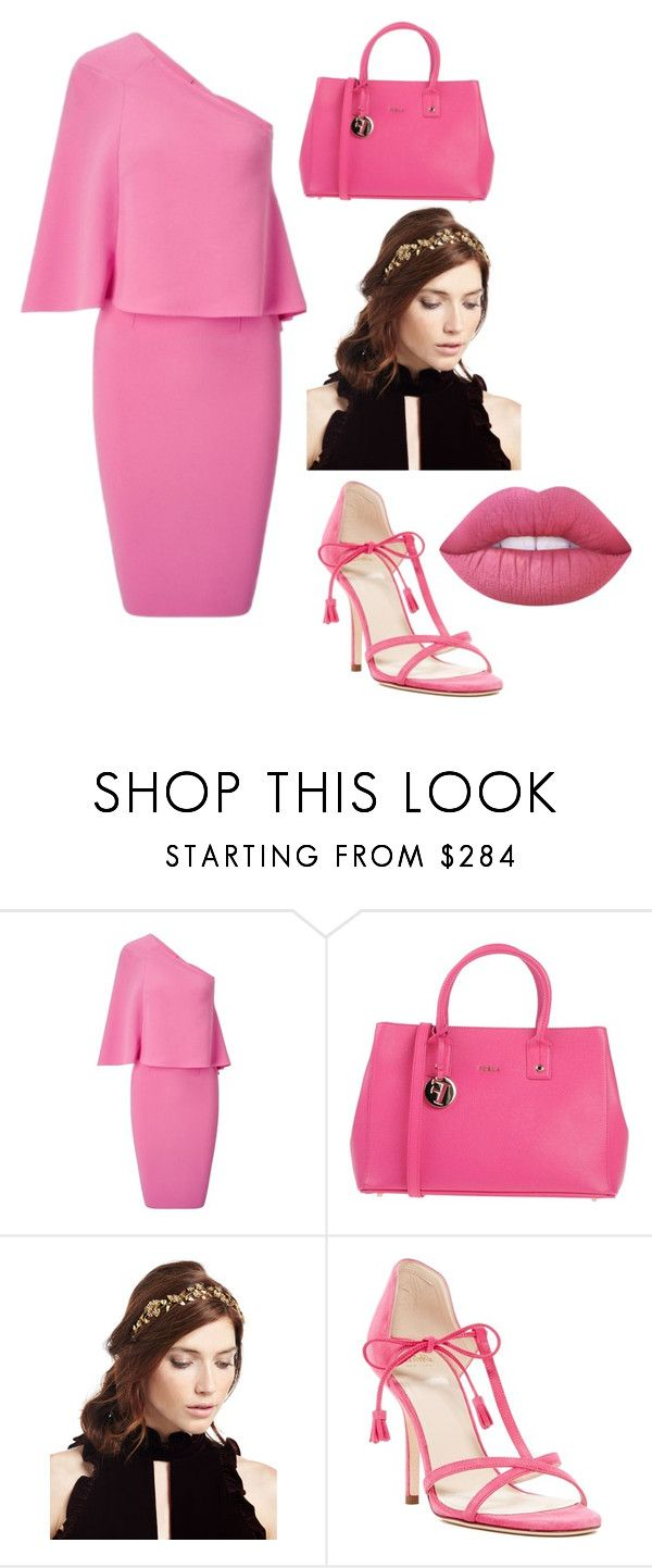 """""""Untitled #29"""" by nikita-hayu ❤ liked on Polyvore featuring Roland Mouret, Furla, Jennifer Behr, Frances Valentine and Lime Crime"""