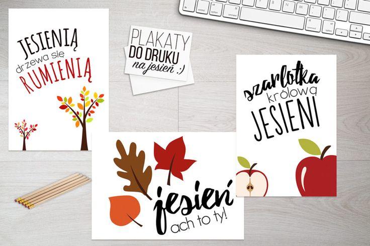 Jesienne, kolorowe plakaty do druku http://bit.ly/JesiennePlakaty