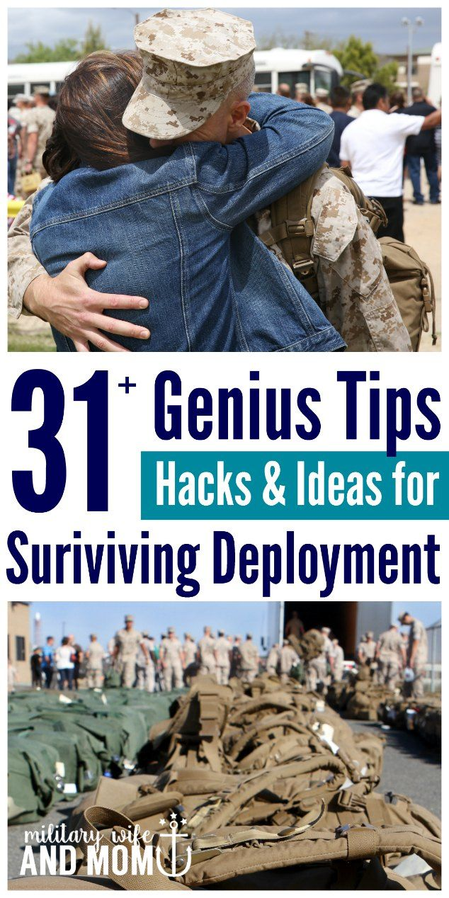 Tips from military spouses ALL over the world! Best tips for surviving deployment as a military wife. via @lauren9098
