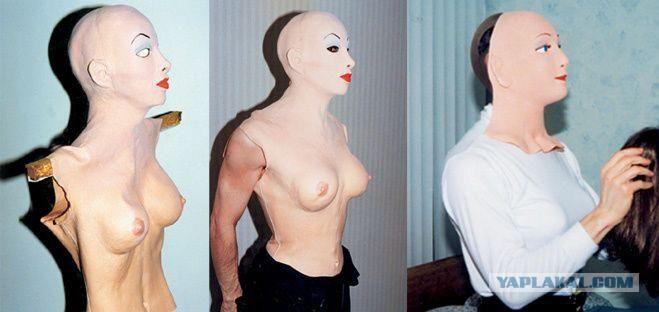 Латексный костюм воспроизводящий женское тело