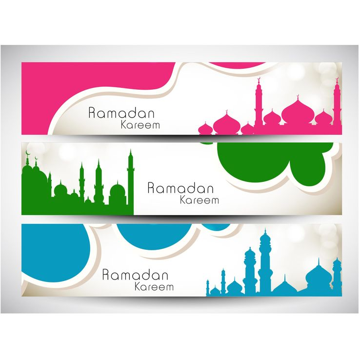 Vector set of Ramadan kareem banner