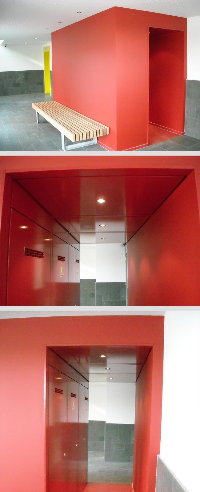 Mooi weggewerkte meterkasten | Rood gelakt MDF | Meer #wand #kast oplossingen: www.veteka.nl