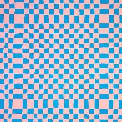 Felter i rosa og blåt by Poul Gernes