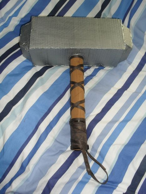 Picture of Cardboard Props: How to make a Viking hammer / Thors hammer- Mjolnir