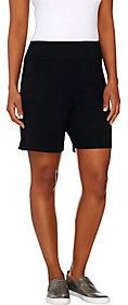 LOGO by Lori Goldstein LOGO Lounge by Lori Goldstein French Terry Pull-On Shorts with Pockets