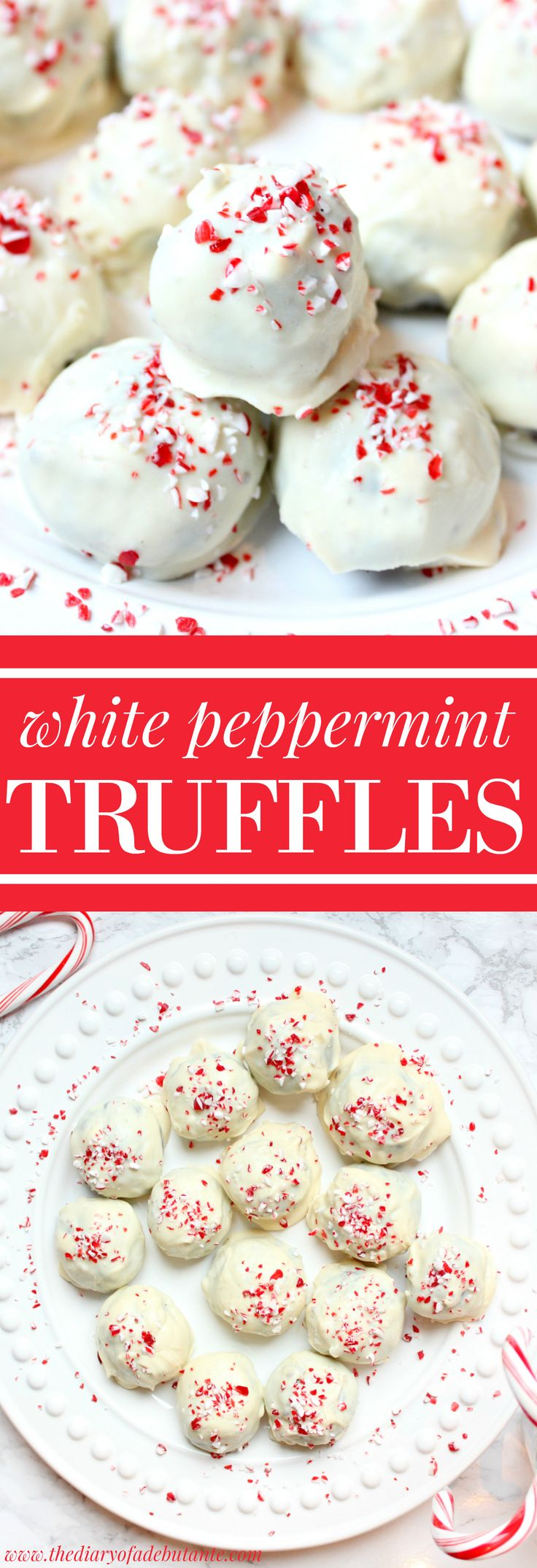 These mouth-watering, no-bake White Peppermint Oreo Truffles are a deliciously easy holiday dessert or snack that anyone (literally anyone) can make! You can follow this recipe using either white or milk chocolate, although I prefer using vanilla almond bark bars. So yummy!