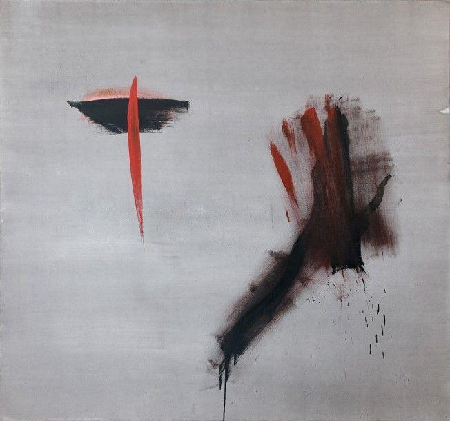 Jean Degottex (1918-1988), Ouest, 1959, huile sur toile, 190 x 202 cm. Estimation : 60 000/80 000 € Vendredi 2 décembre, salle 9 - Drouot-Richelieu. Ferri OVV. Cabinet Brame & Lorenceau.