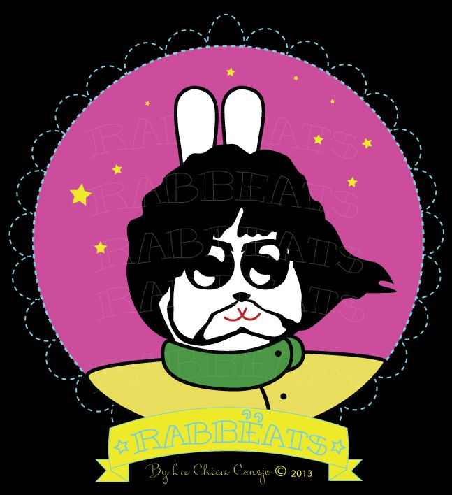 George Rabbëat* Yellow Submarine_Special Edition* Rabbëats by La Chica Conejo © 2013 All Rights Reserved #Georgeharrison #yellowsubmarine #poster #totebags #tshirts #rabbeatsbylachicaconejo #rabbeats #specialedition #yellowsubmarine #canyoupasstheacidtest #love #yes #camafeos #cameos #rings #tshirts #personajes #anillos #totebags #rabbeatsbylachicaconejo