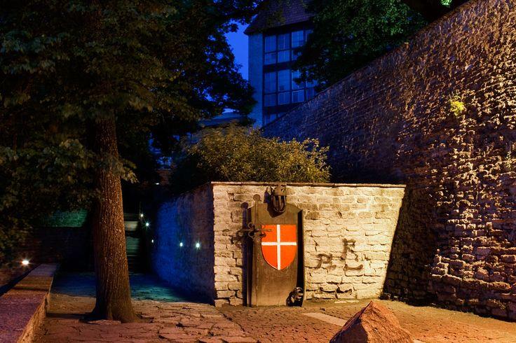 Tiesitkö, että Toompeassa, sen mäen rinteillä, on pieni  puutarhamainen alue, joka on Tanskan lipun Danneborgin syntypaikka. Se on kaupunginmuurin ja alakaupungin välissä. Siellä Tanskan kuningas Valdemar II valmistautui miehineen vuonna 1219 valloittamaan Toompean kukkulan. Pienessä puutarhassa voi siis kuulla historian lehtien havinaa. #toompea #eckeröline #tallinna