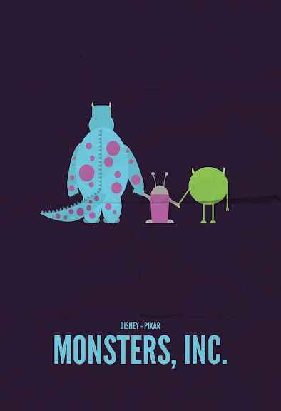 Monsters, Inc., minimalist movie poster
