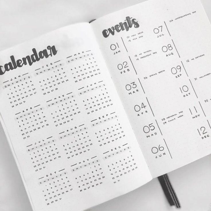 18 Minimalist Bullet Journal Spreads, die Sie jetzt ausprobieren müssen