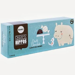Dreamy Chocolate Hippos. We definately need to get some of these.... dark choclate for you, salt & caramel for me. Yes definately ;)
