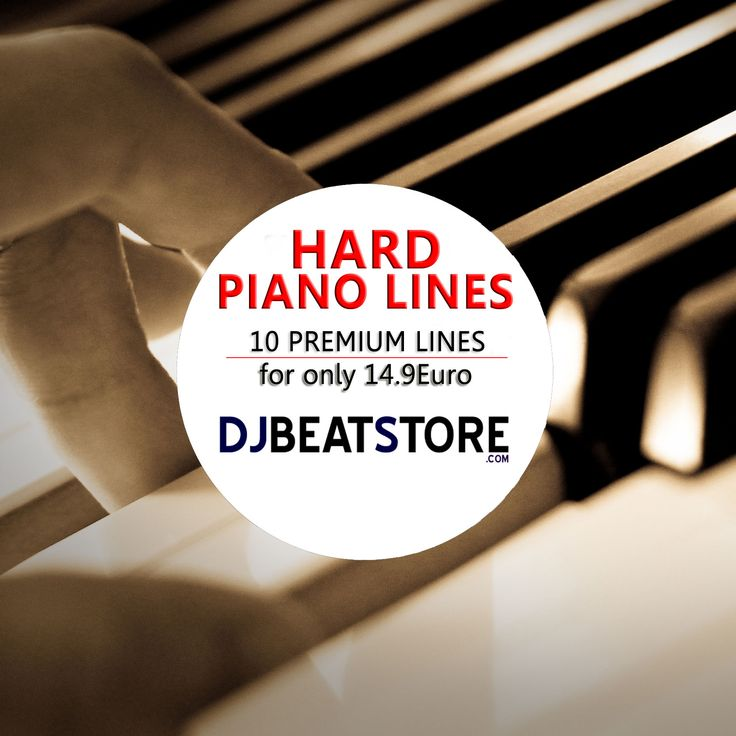 Hard Piano Lines – 10 Premium Piano Loops 14.90 € This pack contains 10 hard piano waav loops, unique and created for DjBeatStore.com only.  Buy pack here http://djbeatstore.com/product/hard-piano-lines-10-premium-piano-loops/