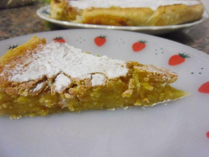 receitinhas da belinha gulosa: Tarte de grão, laranja e amêndoa laminada- Receita Bimby e tradicional