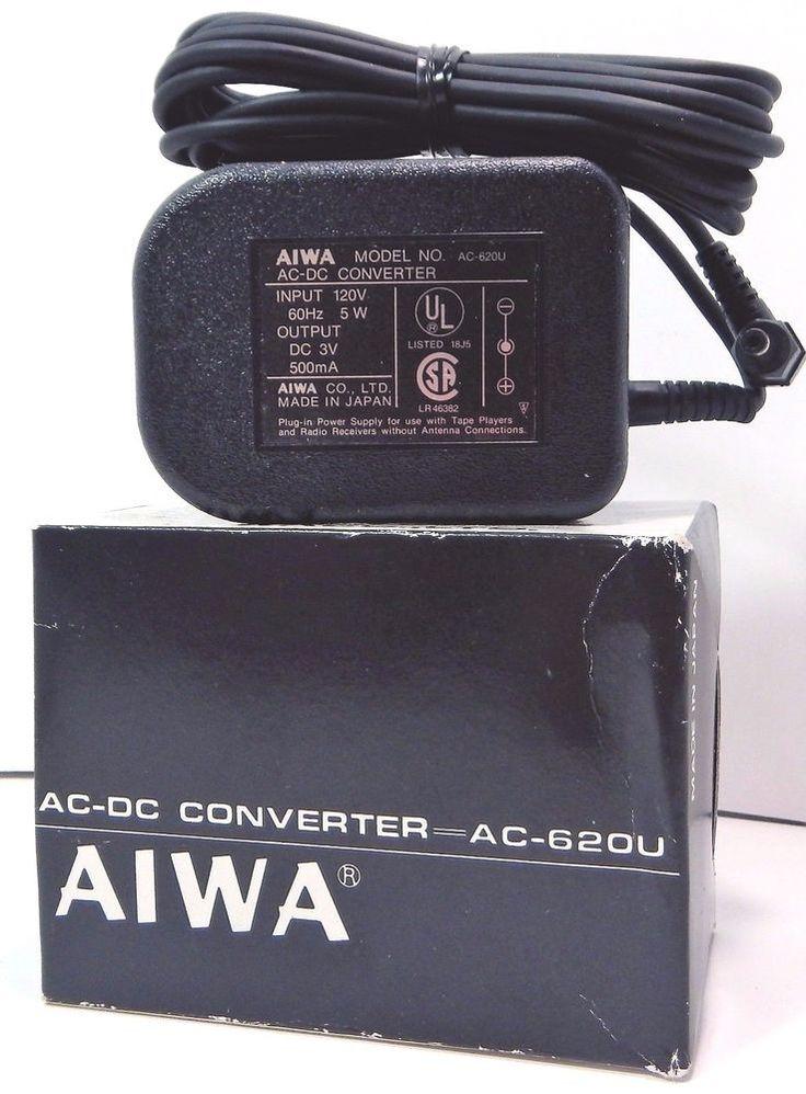 Genuine aiwa power supply adapter ac620u 3v 500ma 5w