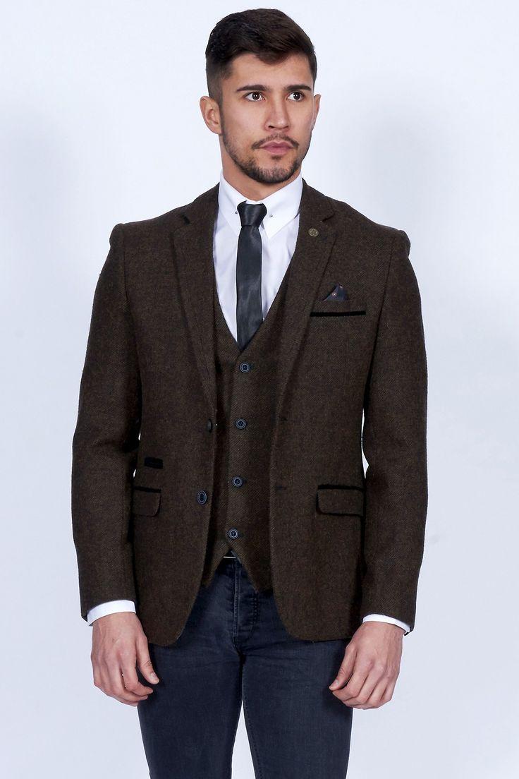 Mens Brown Tweed Blazer
