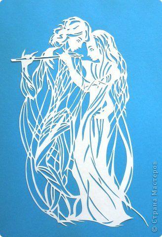 Картина панно рисунок Вырезание The Magic Flute_Lois Cordelia Бумага фото 1
