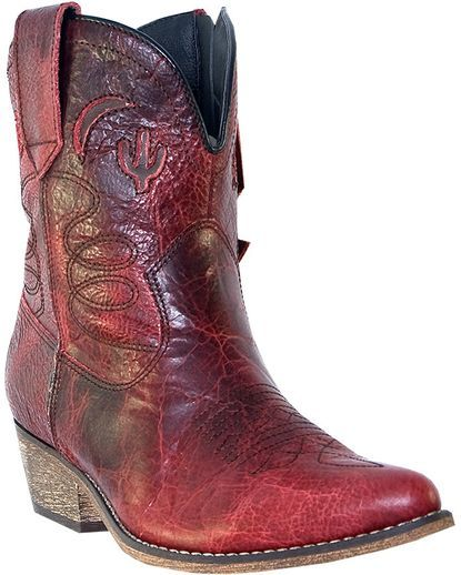 Women's Adobe Rose Boot - Red Distressed