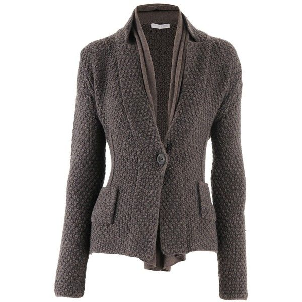 Fabiana Filippi Mocca Cashmere Cardigan Fabienne (11 350 UAH) ❤ liked on Polyvore featuring tops, cardigans, cashmere cardigan, cashmere tops and cardigan top