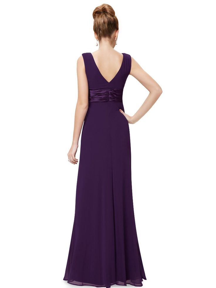 Ever Pretty Chiffon Sexy Double V-neck Diamantes Party Evening Dress 09601 | Amazon.com