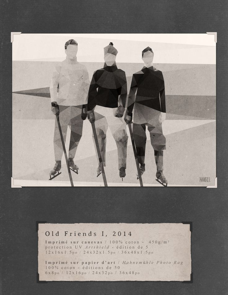 Old Friends I, 2014. 36x48in. #print on canvas & print on #Hahnemühle Photo Rag. Limited edition. #chic #shack #shabby #vintage #hockey #player Artist is Boris Nobel / Taken from his portfolio.
