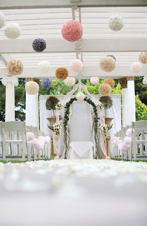 pompons-decoration-mariage