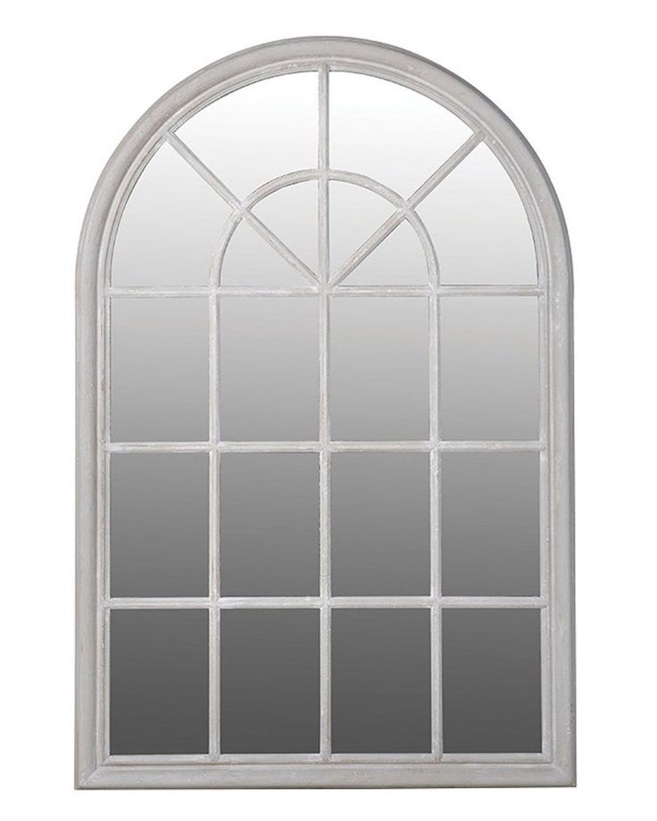 Arched Window Pane Mirror, Wood Frame H:151cm | Free Delivery