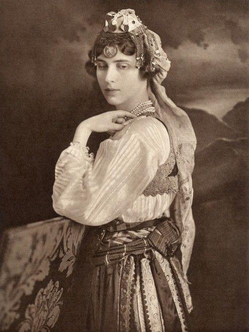 Olga of Yugoslavia Serbian traditional costume from Prizren , Metohija (Southern Serbia)